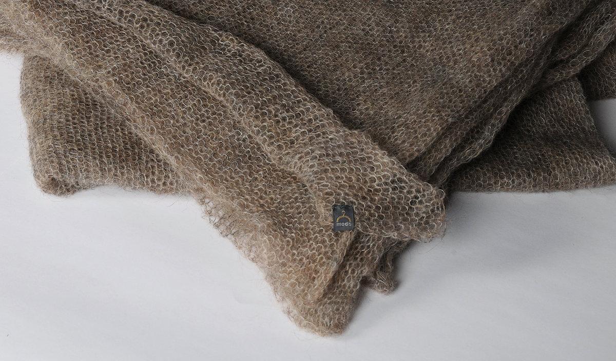 modis mohair wool shawl / scarf / plaid