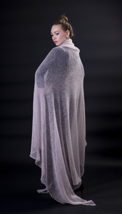 modis mohair wool shawl / scarf / plaid